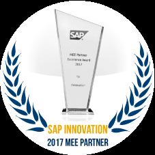 SAP MEE Partner of 2017 for Innovation Excellence Award