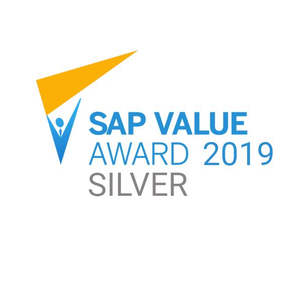 Серебряный призер конкурса SAP Value Award 2019